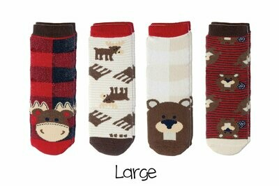 Cabin Socks - Moose and Beaver 4-pair pack