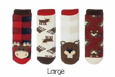 Cabin Socks - Moose and Beaver 4-pair pack