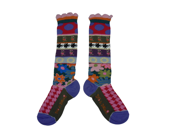 Dub & Drino Knee High Floral and Houndstooth