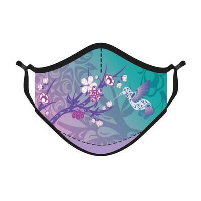Reusable 4-ply Mask - Hummingbird & Blossoms