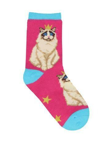 Practically Puurfect Pink Kids Socks