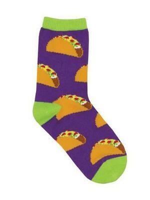 Purple Tacos Kids Socks