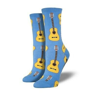 Guitars Cornflower Blue Socks