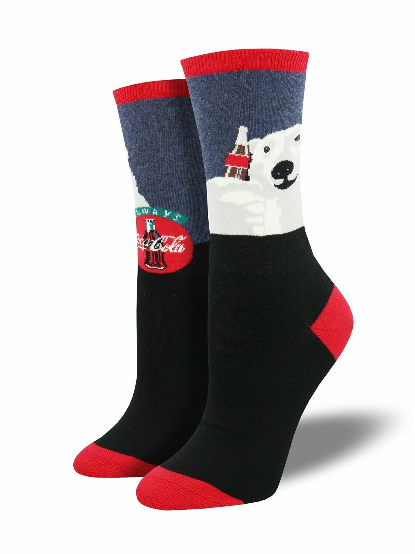 Cheers Coca Cola Polar Bear Socks