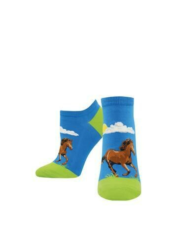 Hay Gurl Horse Ankle Socks