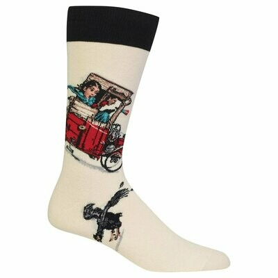 Norman Rockwell Saturday Evening Post Collection Soap Box Racer Crew Socks
