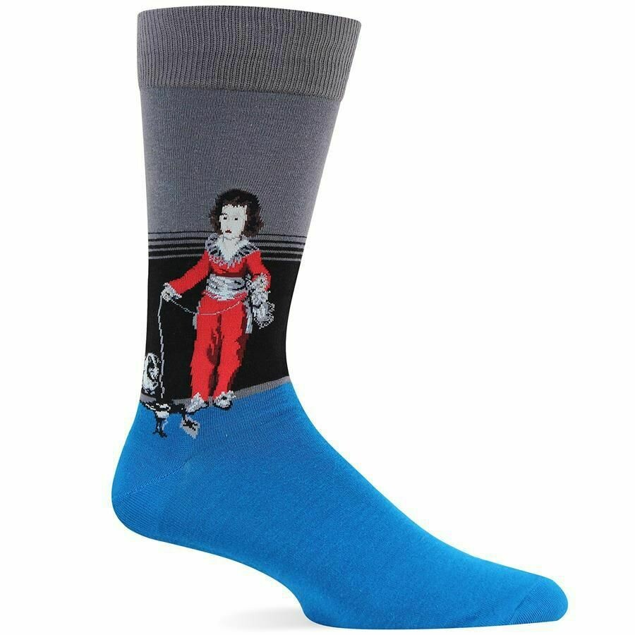 Goya's Boy With Cat Crew Socks