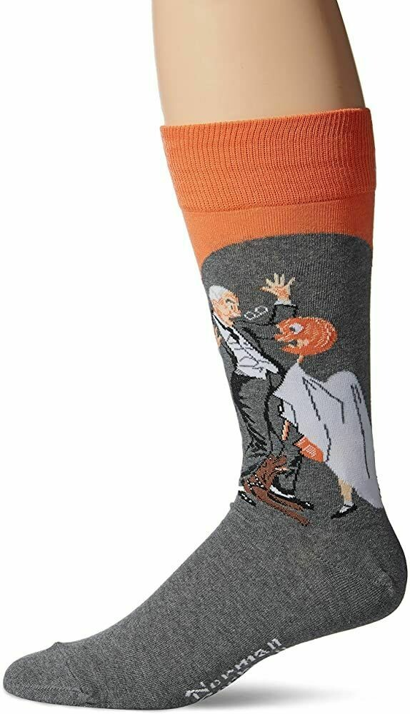 Norman Rockwell Saturday Evening Post Collection Halloween Crew Socks
