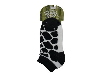 Cow Pattern Shorty Ankle Socks