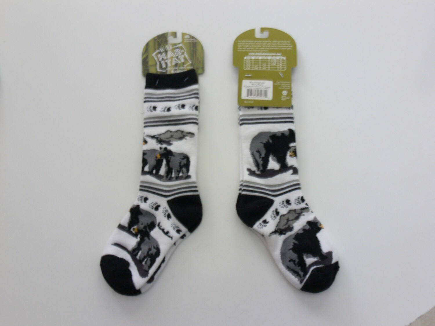 Wild Habitat Kids Bamboo Socks - Black Bears