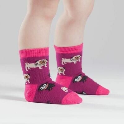 Pug Life Toddler Crew Socks