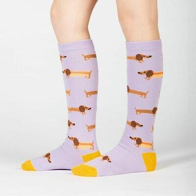 Hot Dogs Kids Knee High Socks