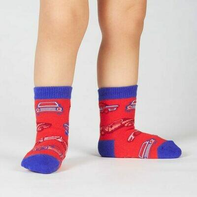 Here In My Car Toddler Crew Socks