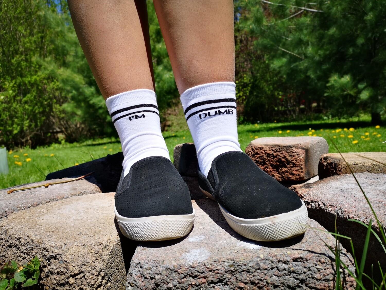 Single Word Sock - 'Own It' Words Quarter High Sock