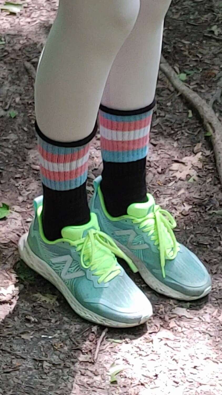 """Transgender Pride Tube Sock  - 16"""" Length"""
