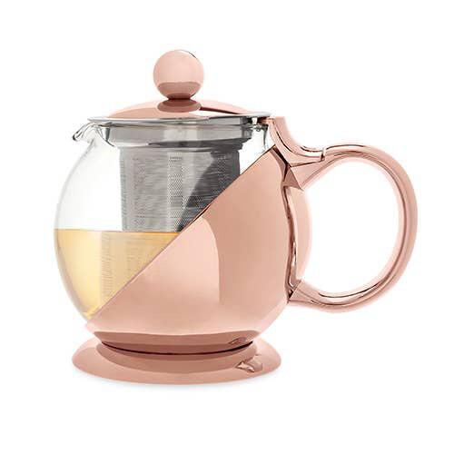 Pinky Up Rose Gold Tea Pot