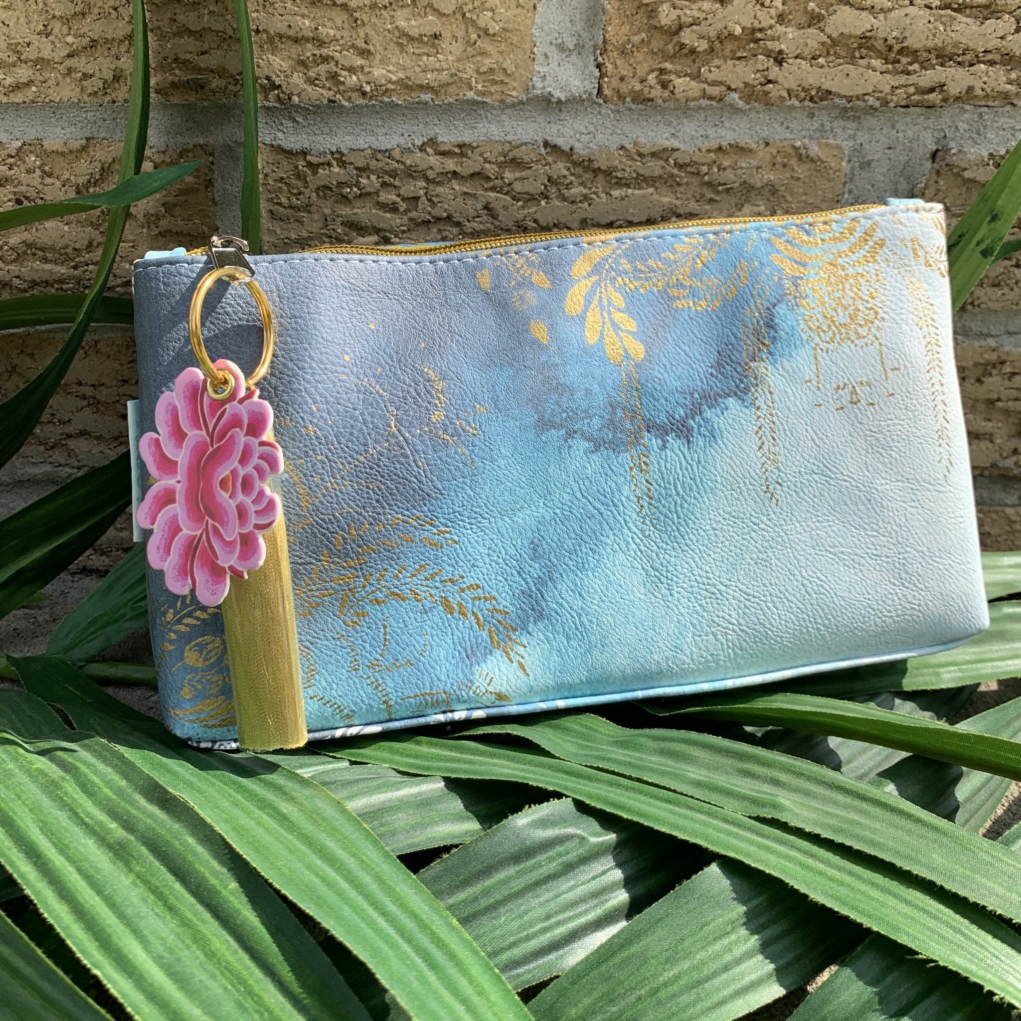 Watercolors Small Tassel Pouch