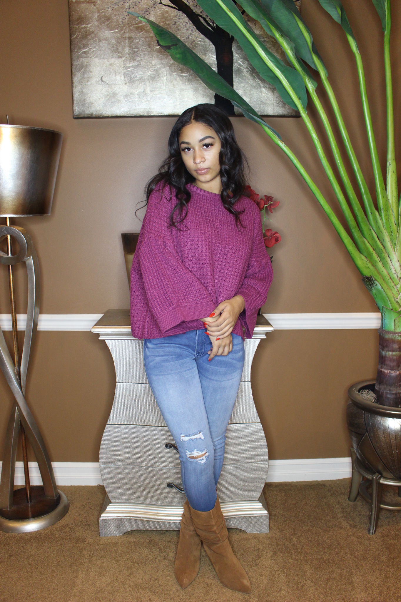 Berry Lush Sweater UPSW694-BERRYLUSH