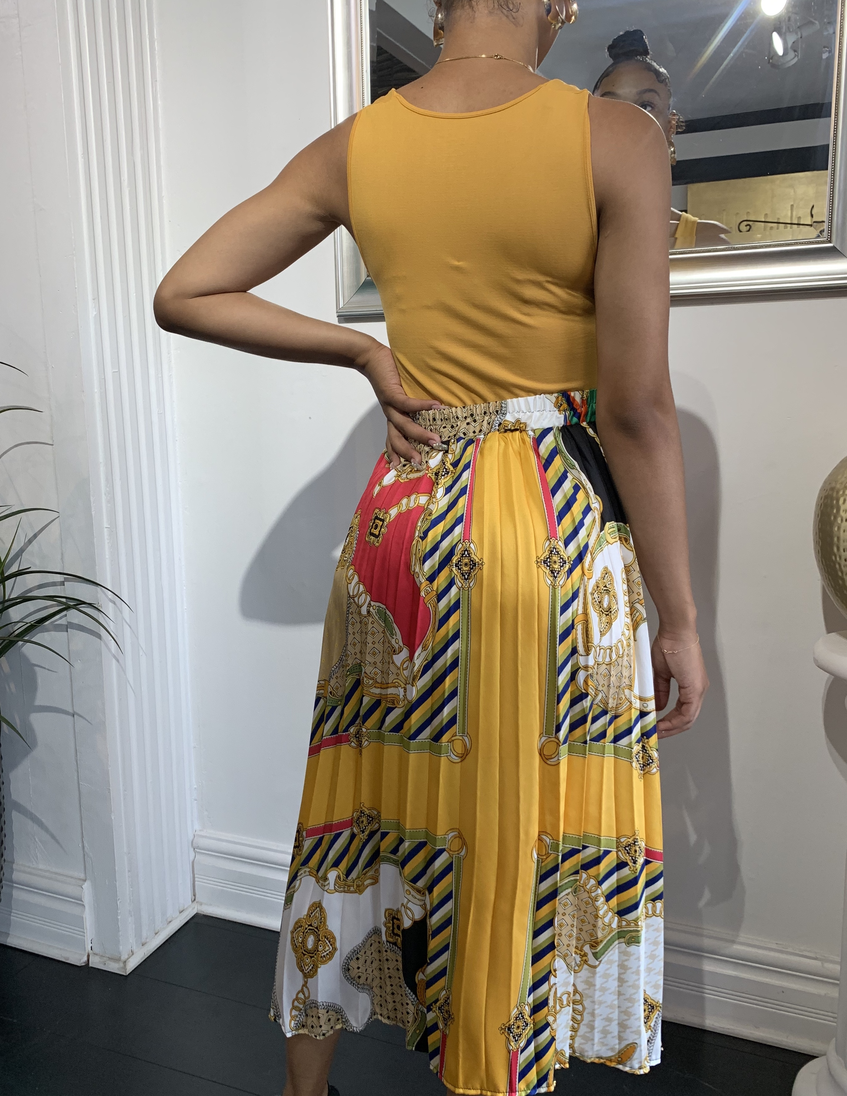 Brunch Anyone Pleated Skirt