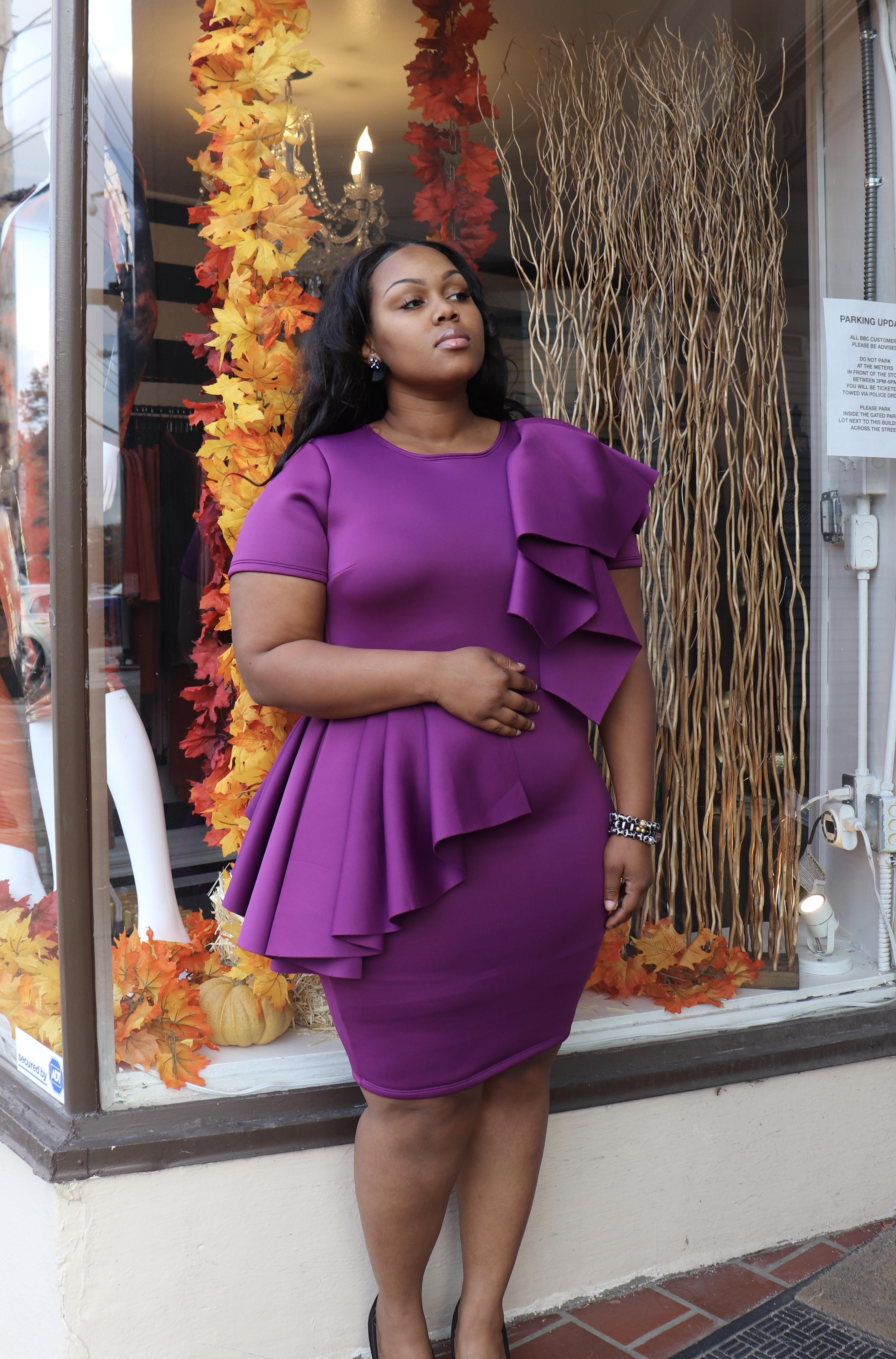 Soraya Peplum Dress UPDR810-SORAYA
