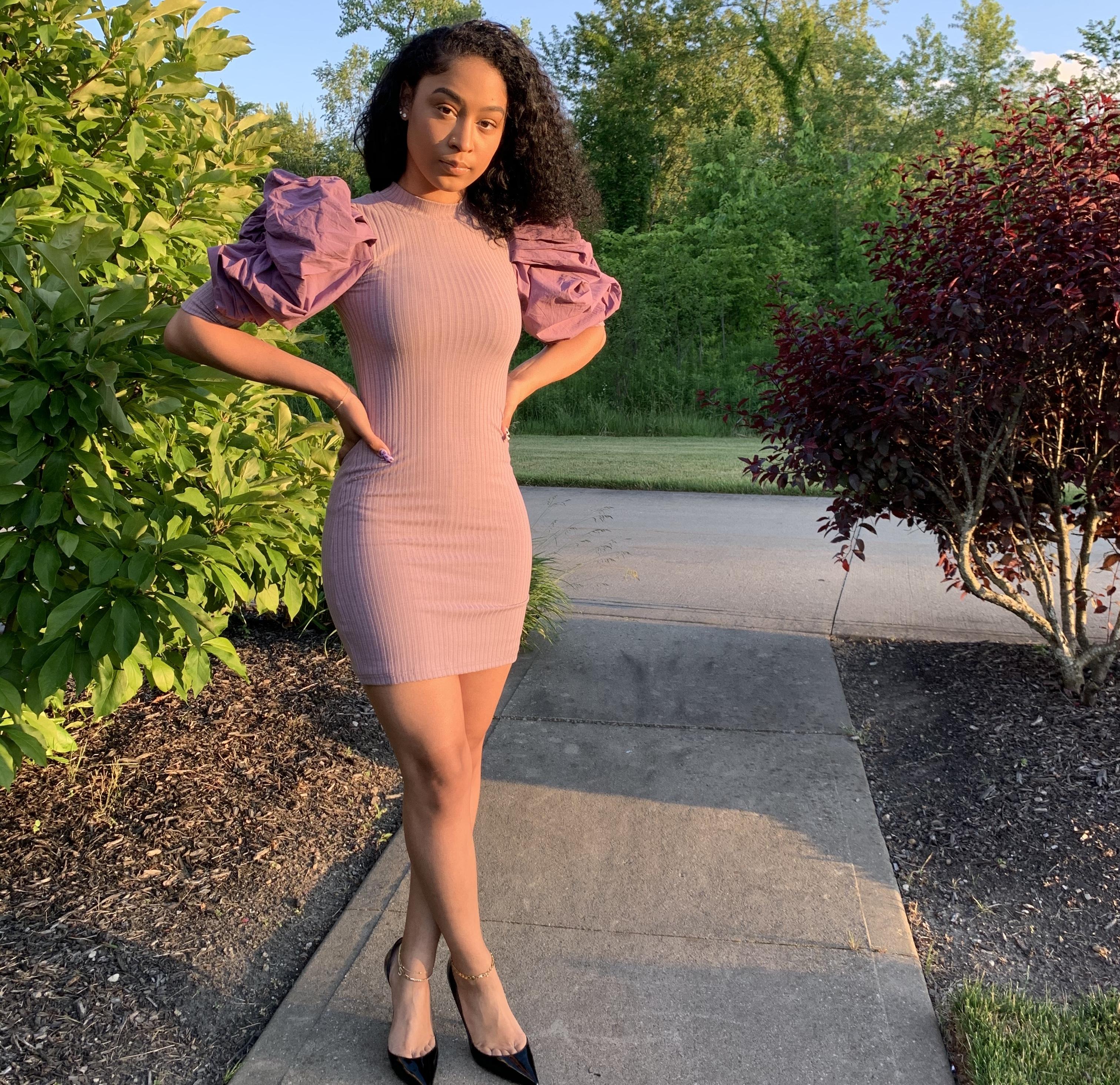 Valentina Mini Puff Sleeve Dress