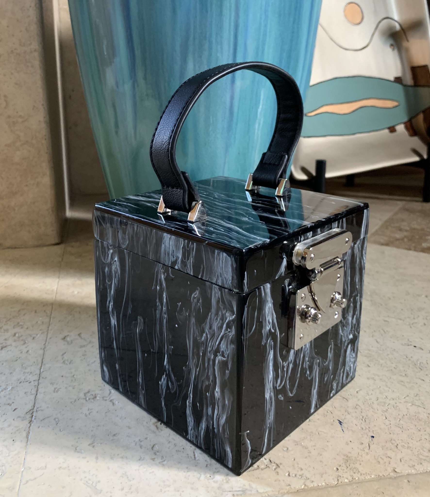 All Boxed Up Satchel Handbag