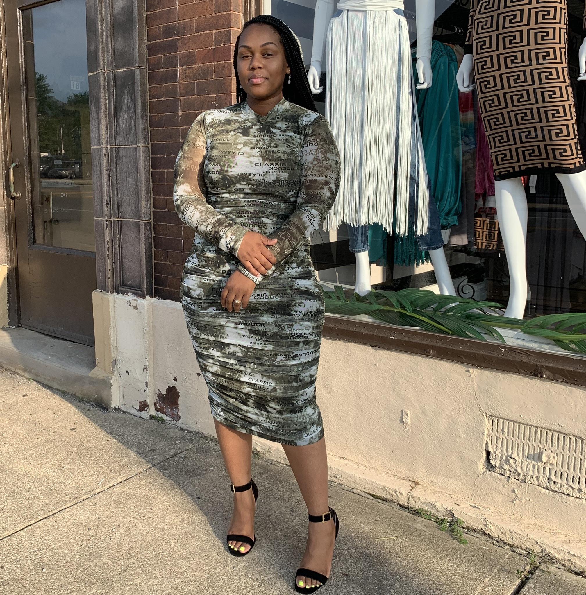 Talk 2 Me Midi Dress