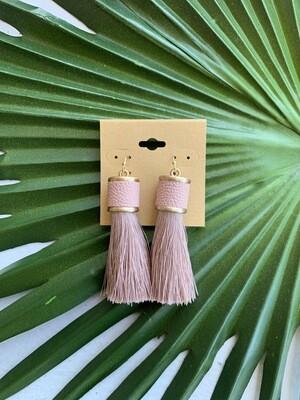 Ramiah Tassel Earrings-Blush