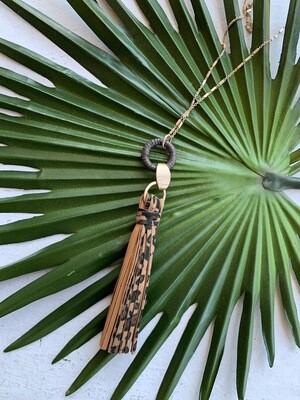 Toro Tassel Necklace-Leopard