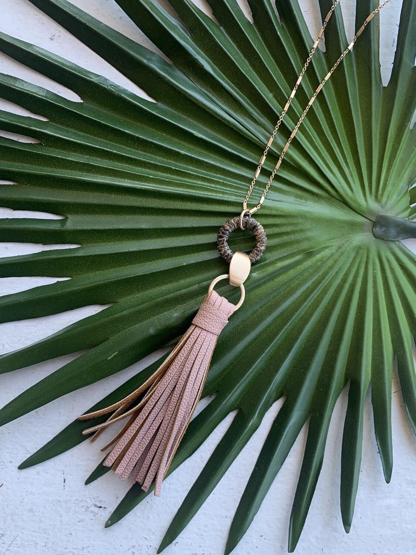 Toro Tassel Necklace-Blush