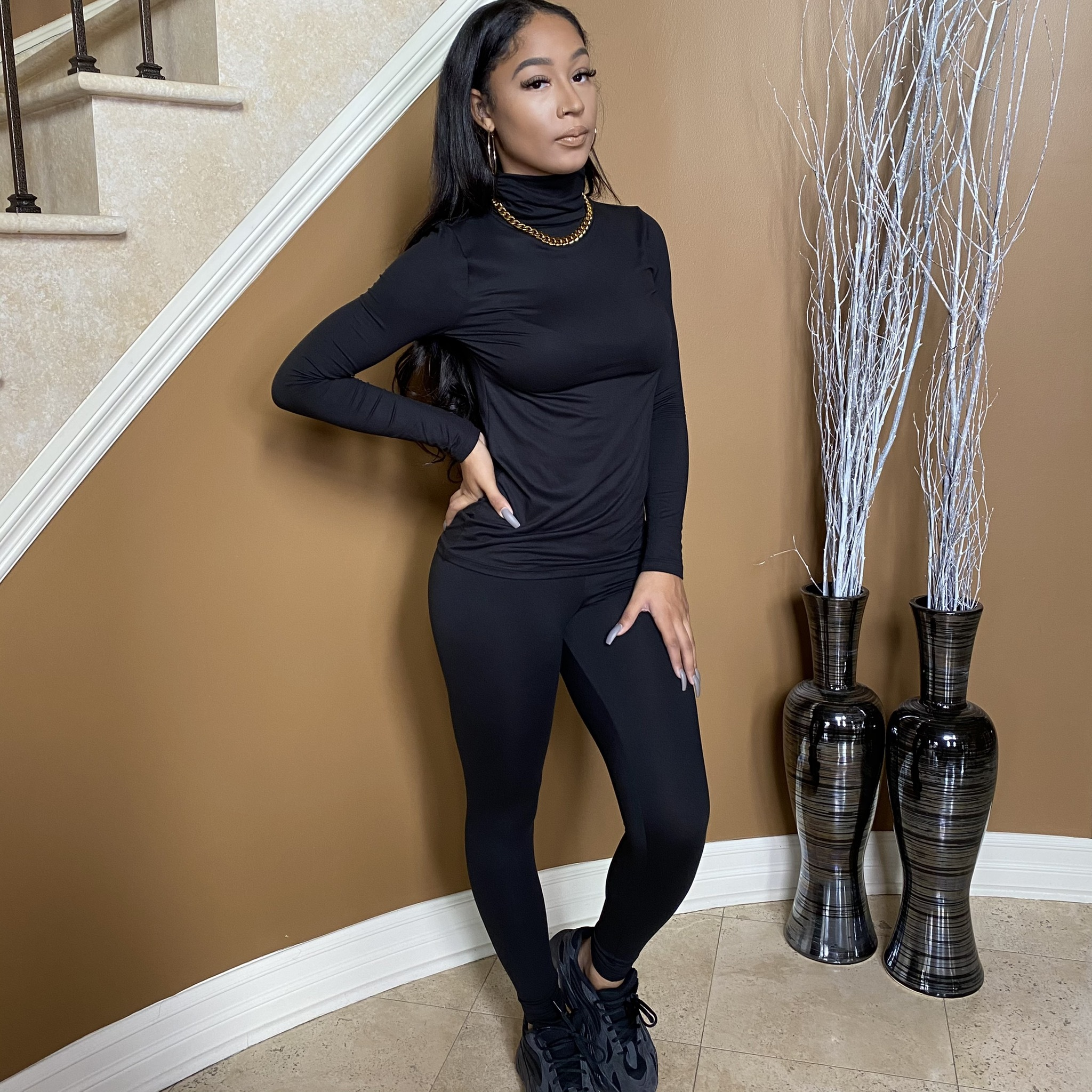 Light Work Two Piece Set-Black