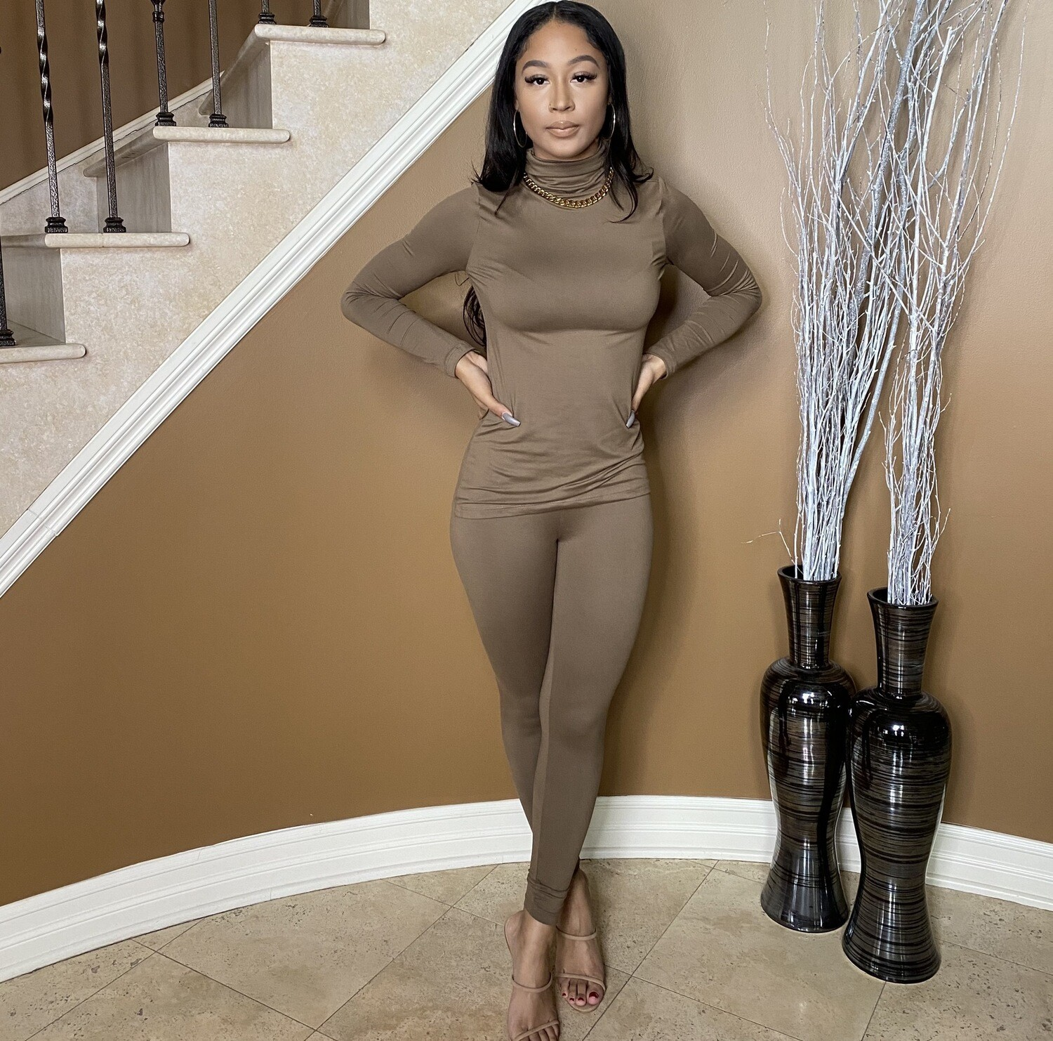 Light Work Two Piece Set-Mocha