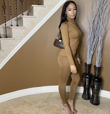 Light Work Two Piece Set-Deep Camel