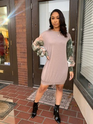 Ms. Cadet Oversized Sweatshirt Dress