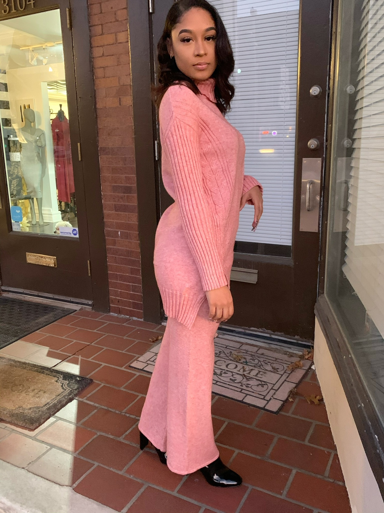 Pink Dreams Two Piece Sweater Set