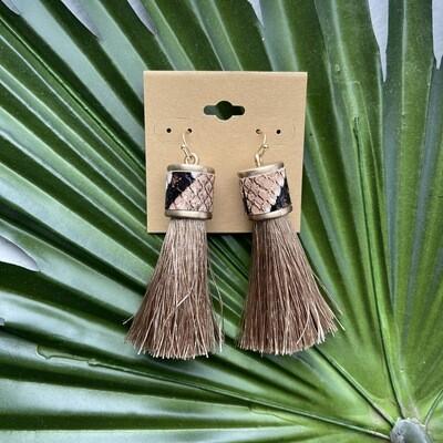 Ramiah Tassel Earrings-Sand