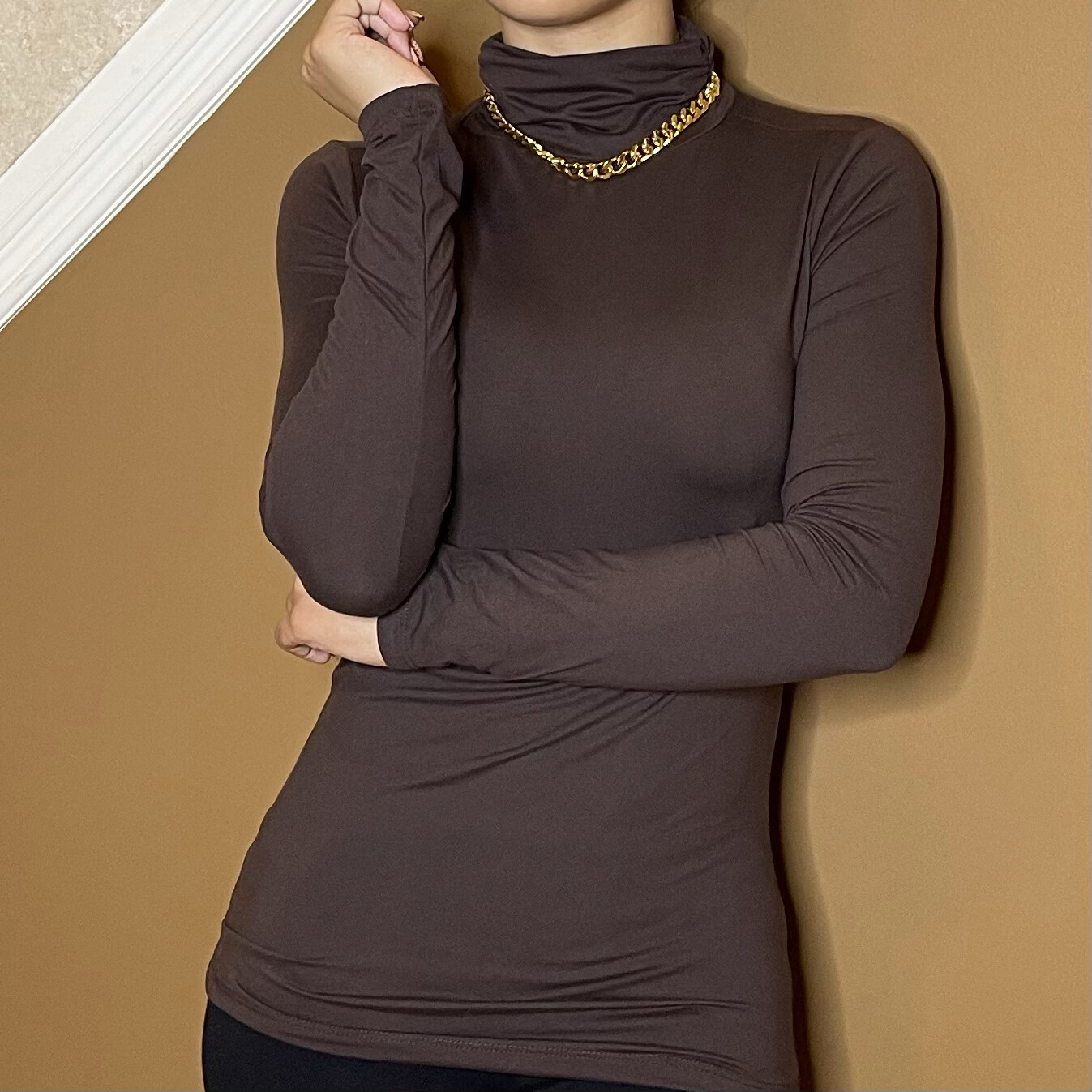 Oh So Soft Turtleneck-Brown