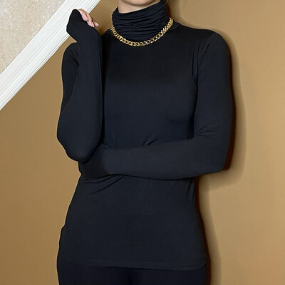 Oh So Soft Turtleneck-Black