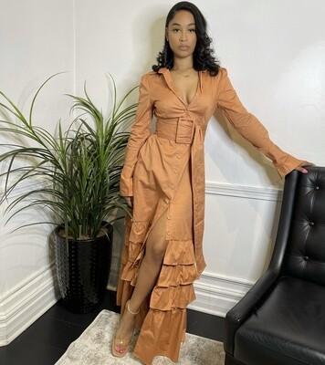 Field Of Love Ruffled Maxi Dress