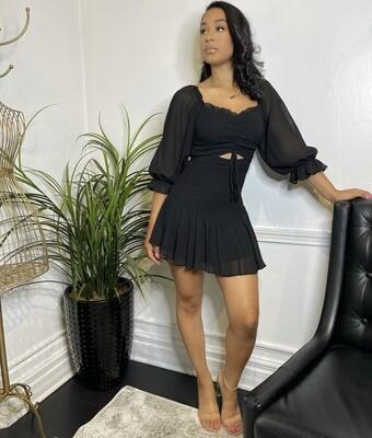 Pebbles Mini Dress-Black