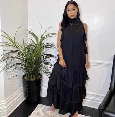 Amber Breeze Sleeveless Maxi Dress-Black