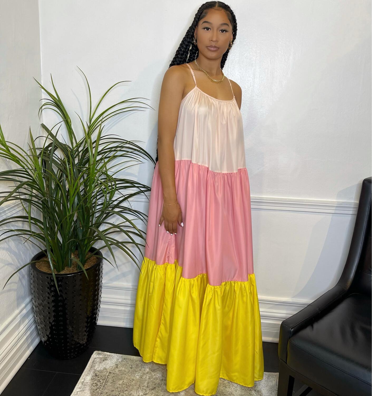Sunset Drive Maxi Dress-Yellow