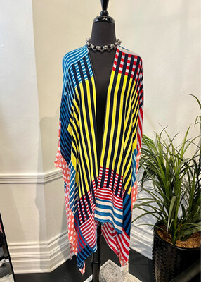 Candy Stripes Coverall-Blue