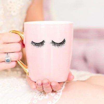 Pink Eyelashes Coffee Mug