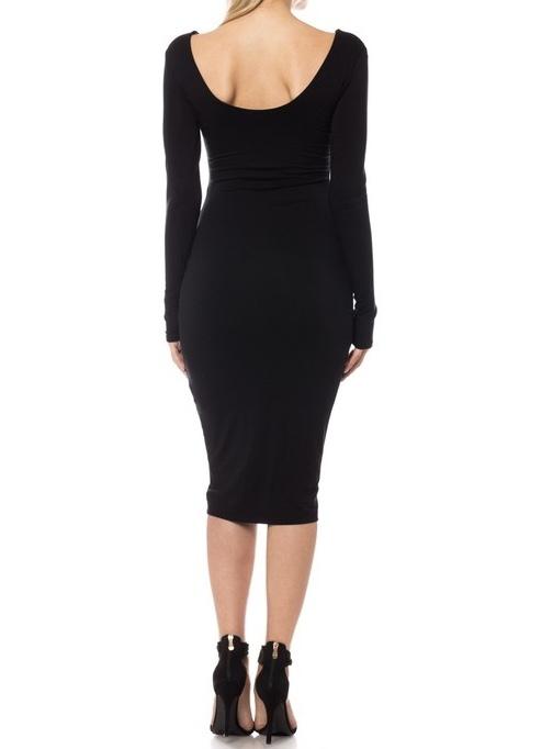 LaDonna Midi Dress Black Back View
