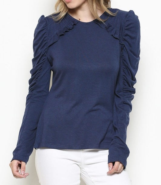 Puff N Stuff Ruffled Sleeve Top