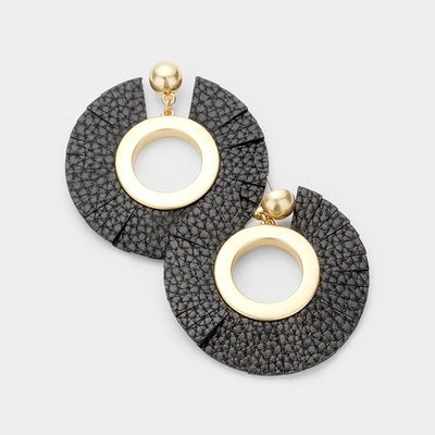 Roni Leather Earrings