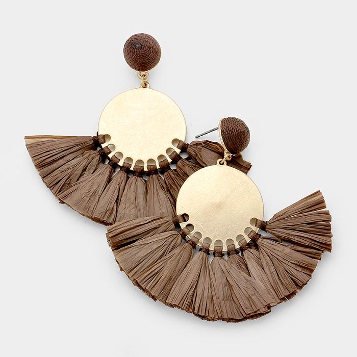 Siena Raffia Earrings UPJL0001-SIENA