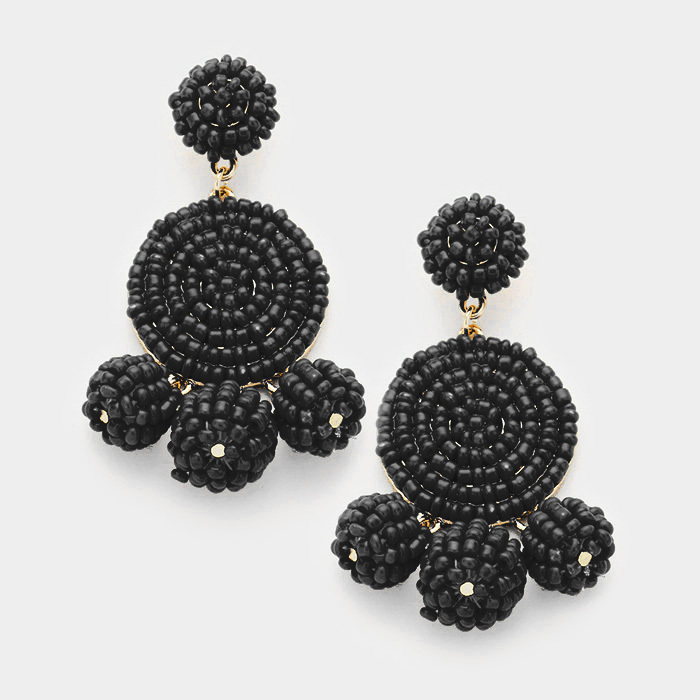 Verona Earrings Black