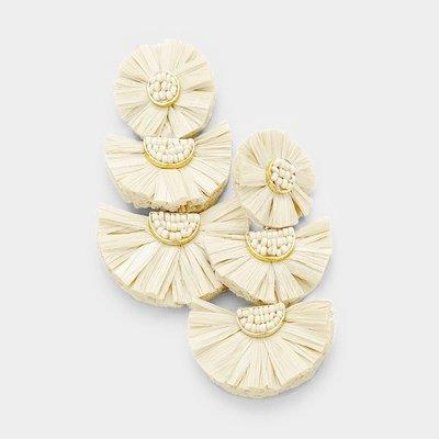 Zambia Raffia Earrings